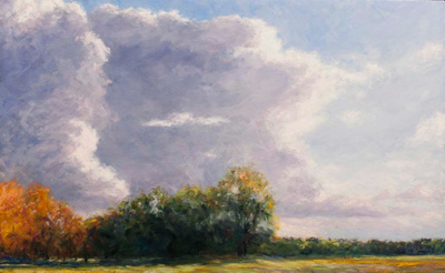 Title: Passing Meadows , Size: 22 x 36 , Medium: Oil on Canvas , Price: $3,800