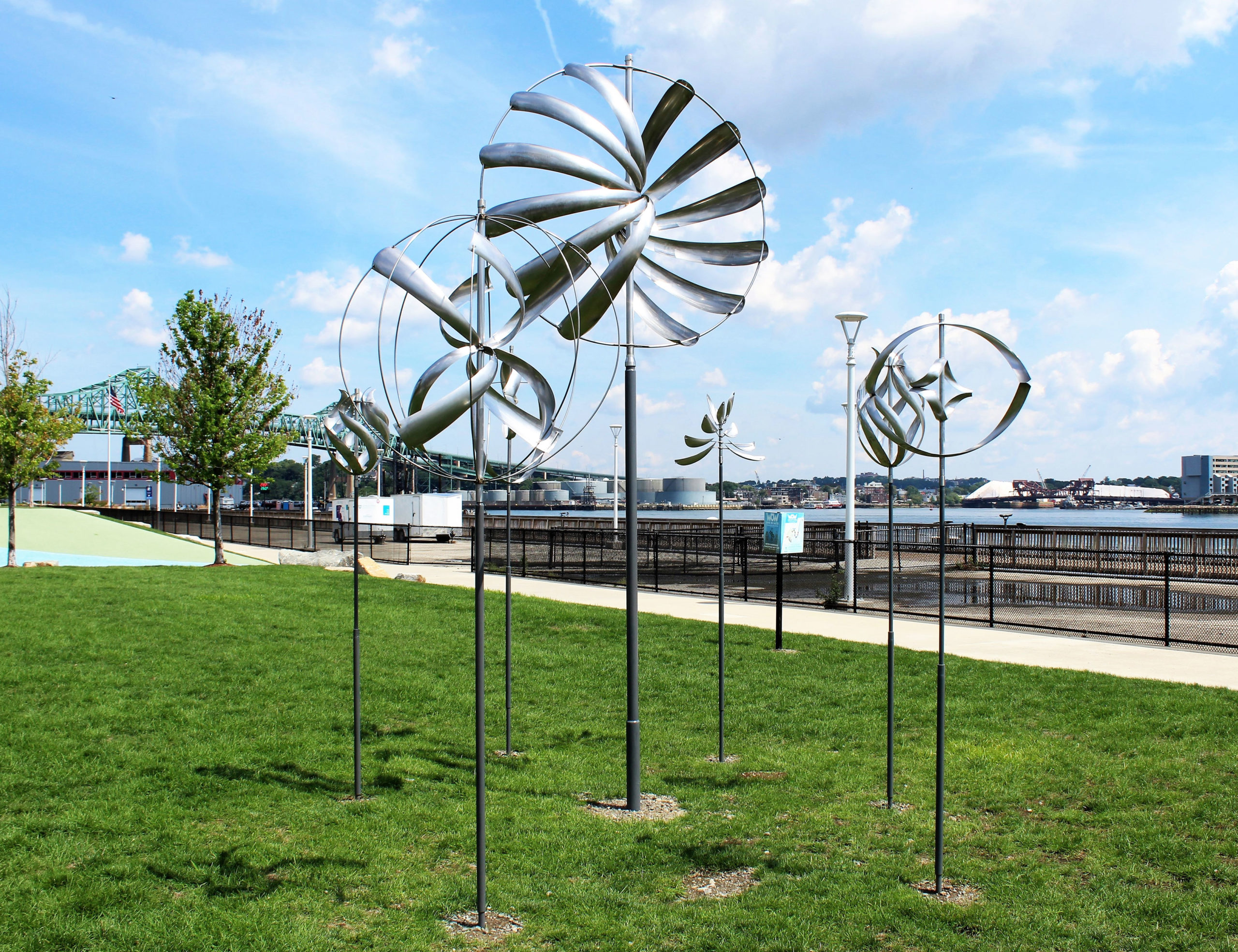 WOW: Wind On Water Wind Sculptures Exhibit by Lyman Whitaker provides Respite during Pandemic